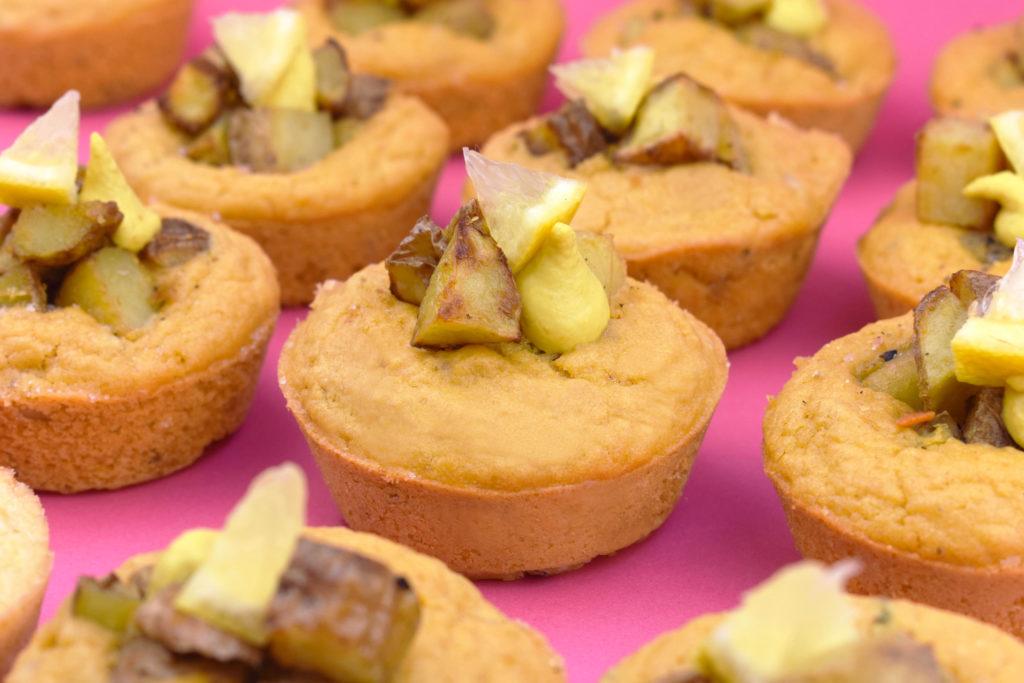 Vegan Breakfast Potato Cake Muffin