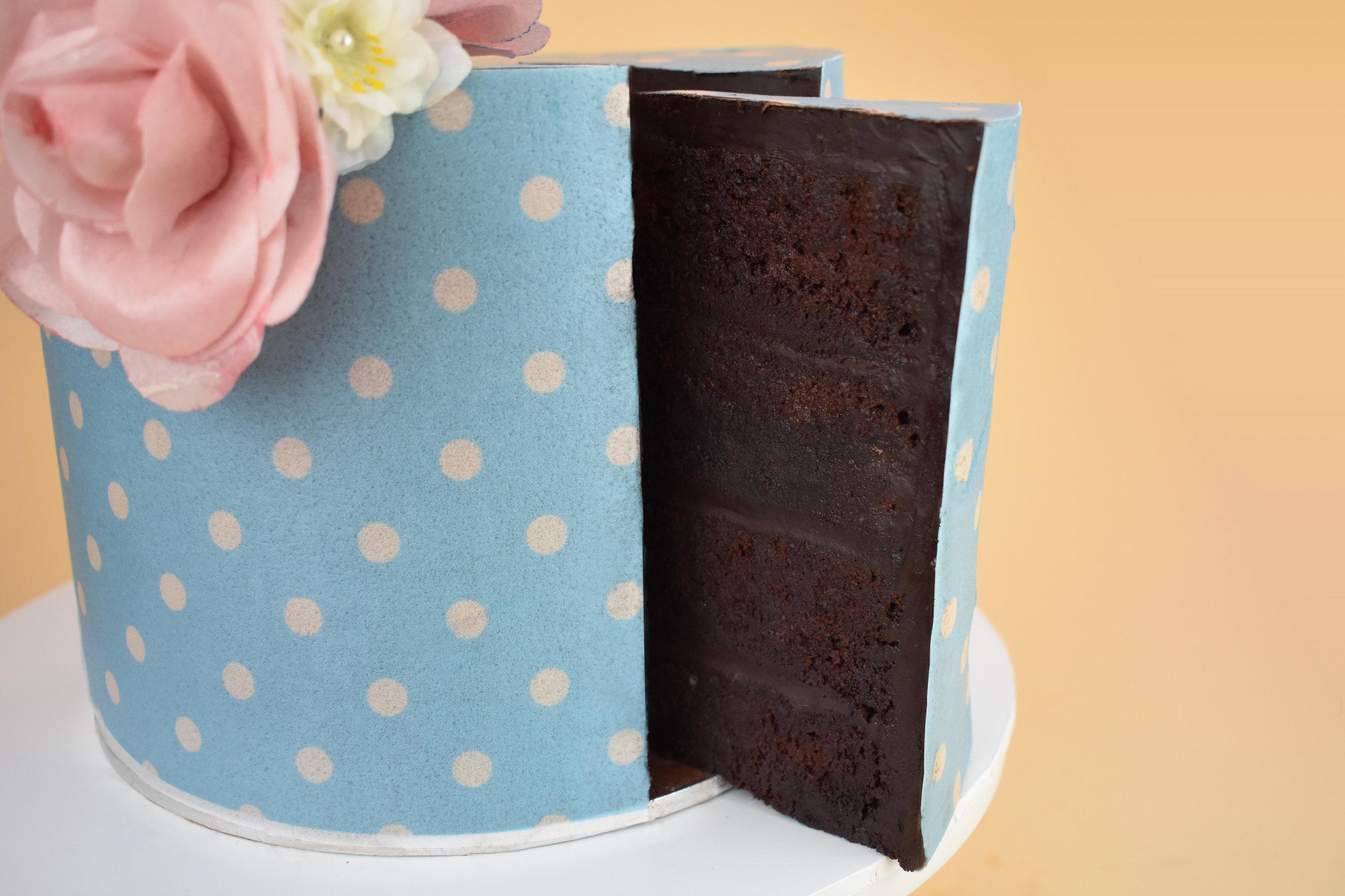Vegan Chocolate Mud Cake with Ganache