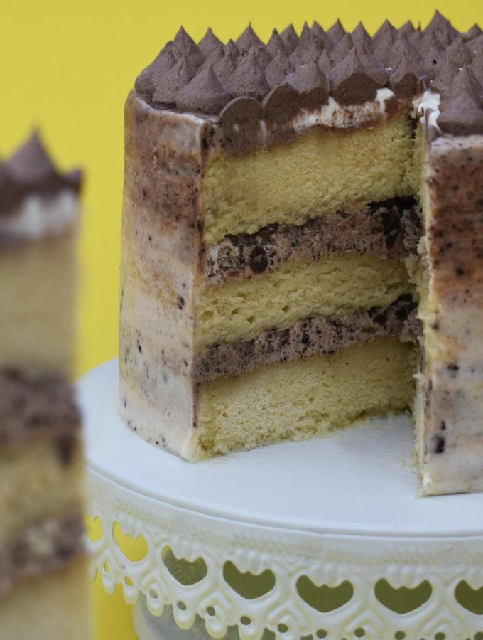 Vegan vanilla cake by Sara Kidd