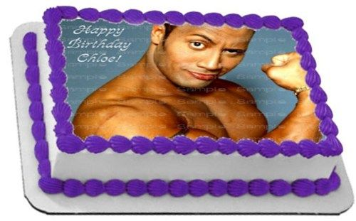 Vegan Cake for Dwayne Johnson