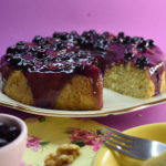Vegan Blueberry Glaze Cake