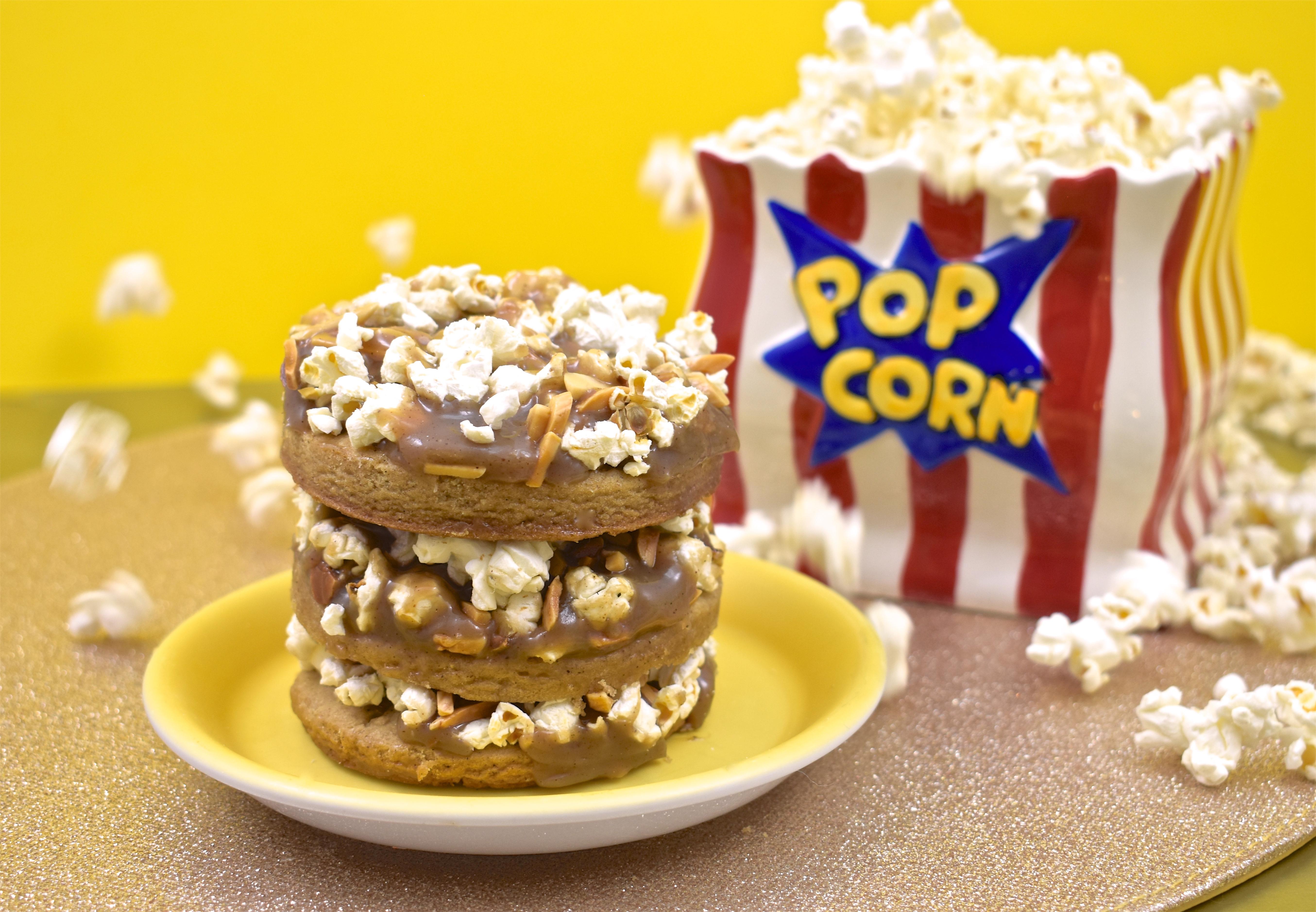 popcorn caramel cookie