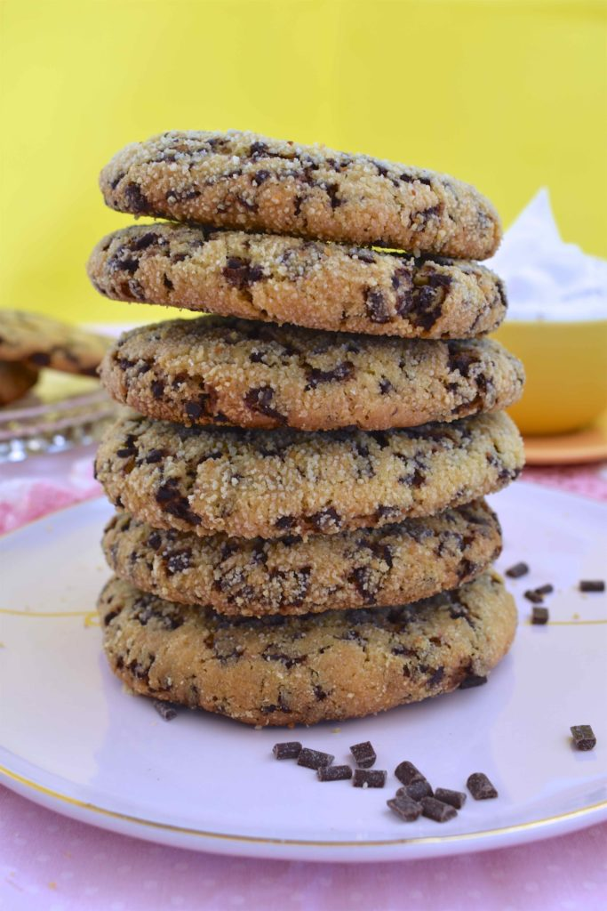 Vegan Crispy Gooey Choc Chip Cookies