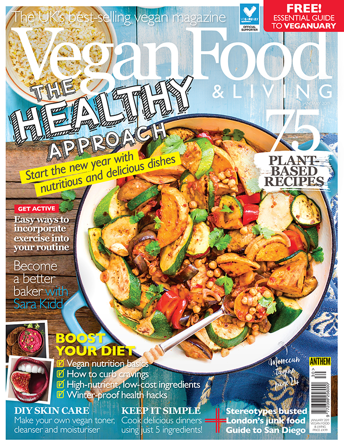 Sara Kidd columnist for Vegan Food and Living Magazine