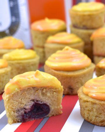Vegan Cherry Cupcakes with Tofu Custard Cream