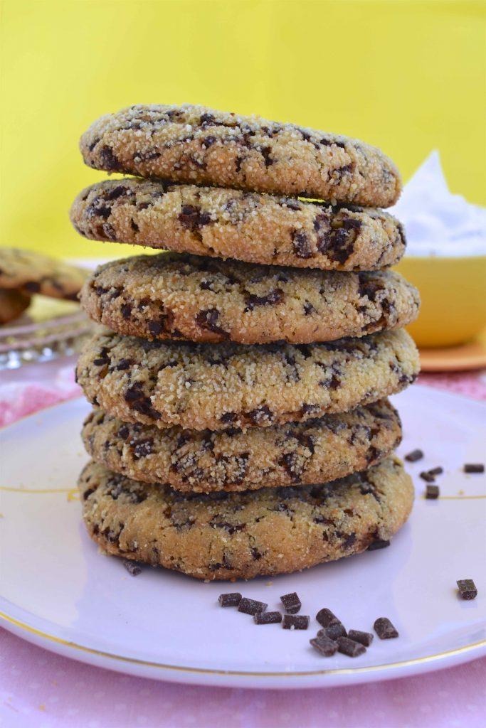 Vegan Crispy Gooey Choc Chip Cookies