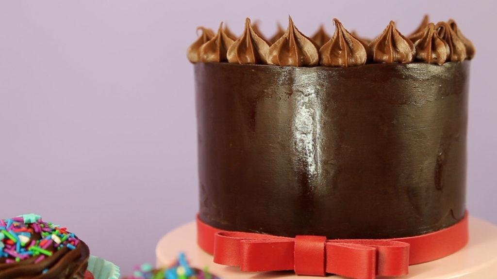 vegan chocolate ganache cake