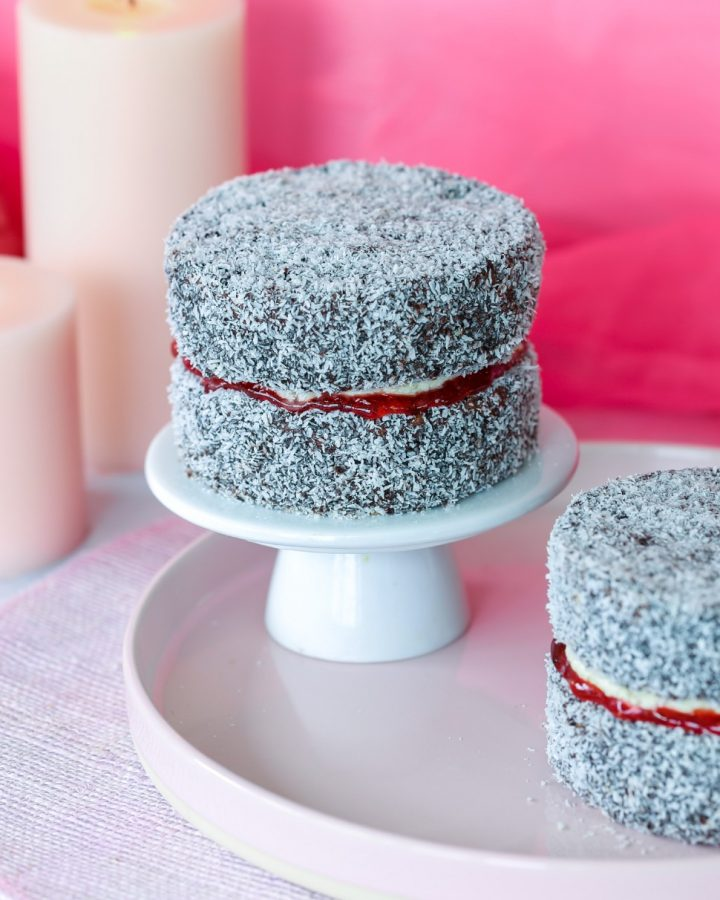 Australian Vegan Lamington Cake