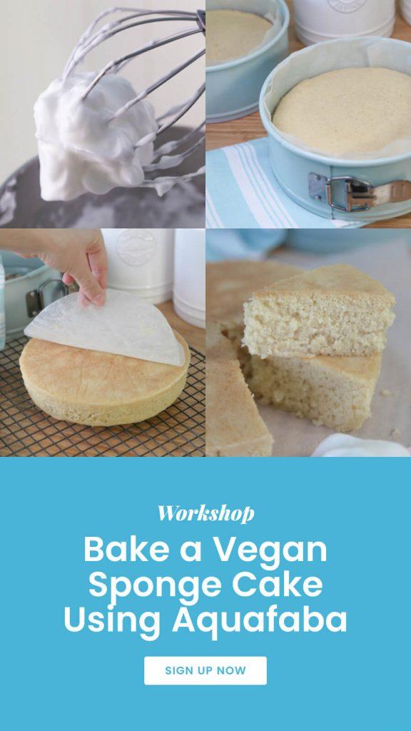 Vegan Sponge Cake Aquafaba Long