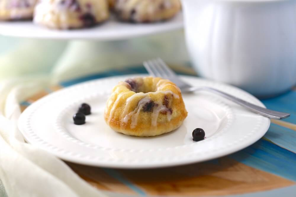 Vegan Blueberry Lemon Tea Cakes
