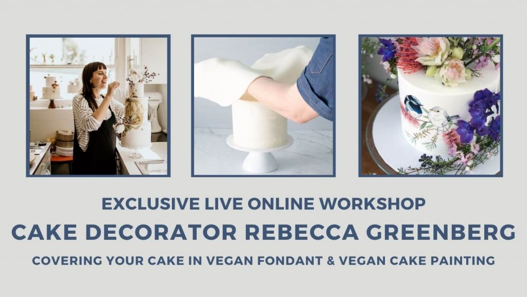 WORKSHOP Professional Cake Decorator Rebecca Greenberg teaches decorating with fondant and cake painting 1