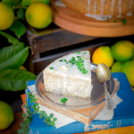 A beautiful slice of Gluten-Free-Lemon-and-Poppy-Seed-with-Thyme-Cake