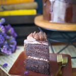 Vegan Gluten-free Chocolate Cake Slice by Sara Kidd